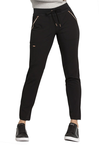 CK055T<br> Mid Rise Straight Leg Drawstring Pants (Tall)