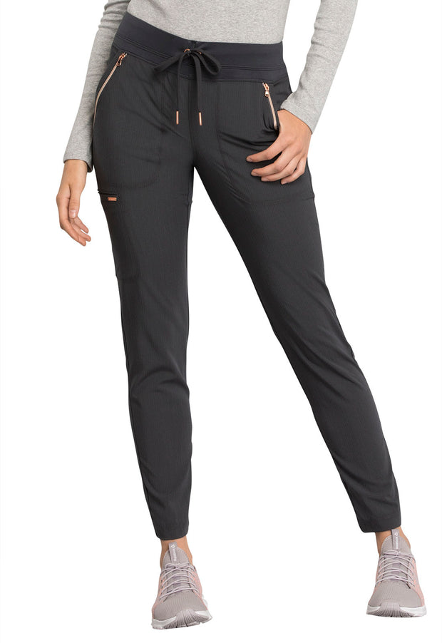 Cherokee Statement by Cherokee Women's Mid Rise Straight Leg Drawstring Pants - CK055T  Tall