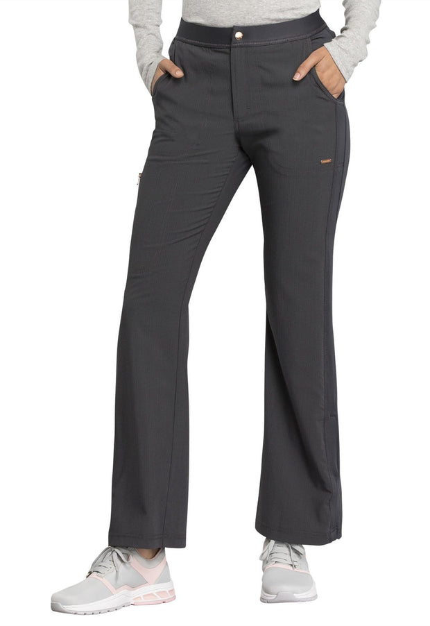 Cherokee Statement by Cherokee Women's Natural Rise Flare Leg Pant - CK060P  Petite - ScrubHaven