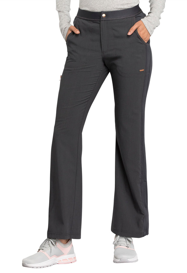 Cherokee Statement by Cherokee Women's Natural Rise Flare Leg Pant - CK060T  Tall