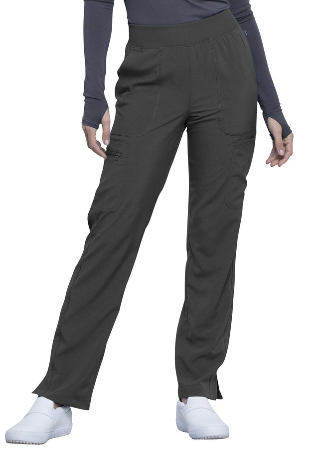 Cherokee Infinity Women's Mid Rise Tapered Leg Pull-on Pant - CK065AP  Petite - ScrubHaven