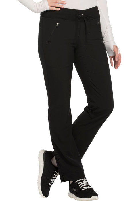 Cherokee Infinity Women's Mid Rise Tapered Leg Drawstring Pants - CK100AT  Tall