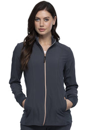 Cherokee Statement by Cherokee Women's Zip Front Jacket - CK365 - ScrubHaven