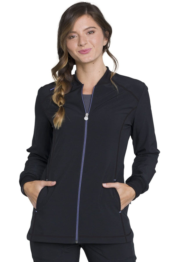 Cherokee Infinity Women's Zip Front Warm-up - CK380A - ScrubHaven