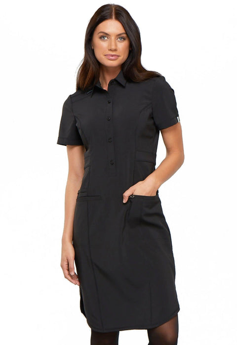 "Cherokee Infinity Women's 39"" Button Front Dress - CK510A - ScrubHaven"