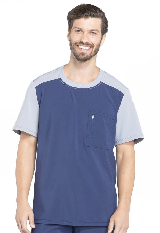 CK630A Men's Colorblock Crew Neck Top