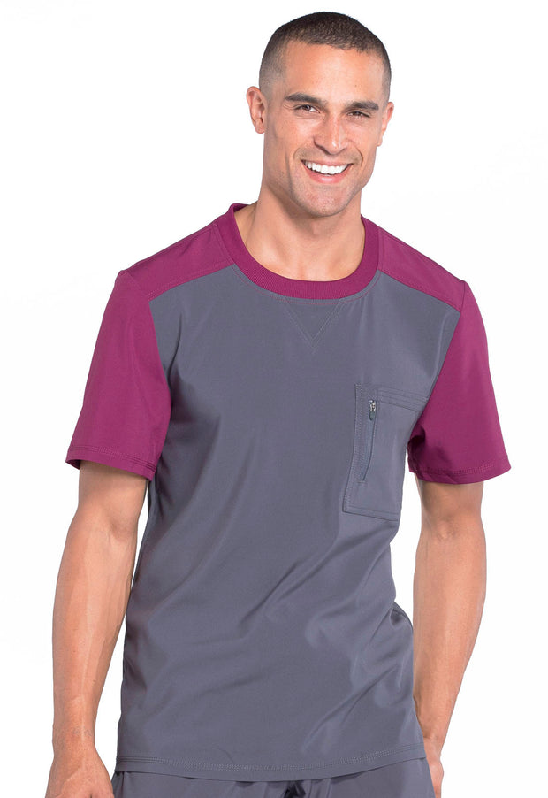 Cherokee Infinity Men's Colorblock Crew Neck Top - CK630A