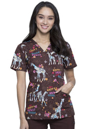 Cherokee Cherokee Genuine Women's V-Neck Top - CK651 - ScrubHaven