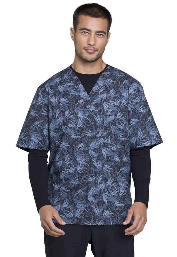 Cherokee Cherokee Genuine Men's Men's V-Neck Top - CK675 - ScrubHaven
