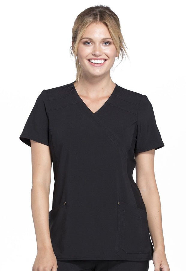 Cherokee iflex Women's Mock Wrap Knit Panel Top - CK680 - ScrubHaven