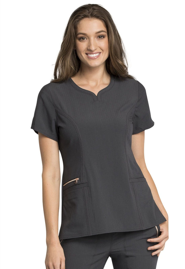 Cherokee Statement by Cherokee Women's Ribbed V-Neck Top - CK695 - ScrubHaven