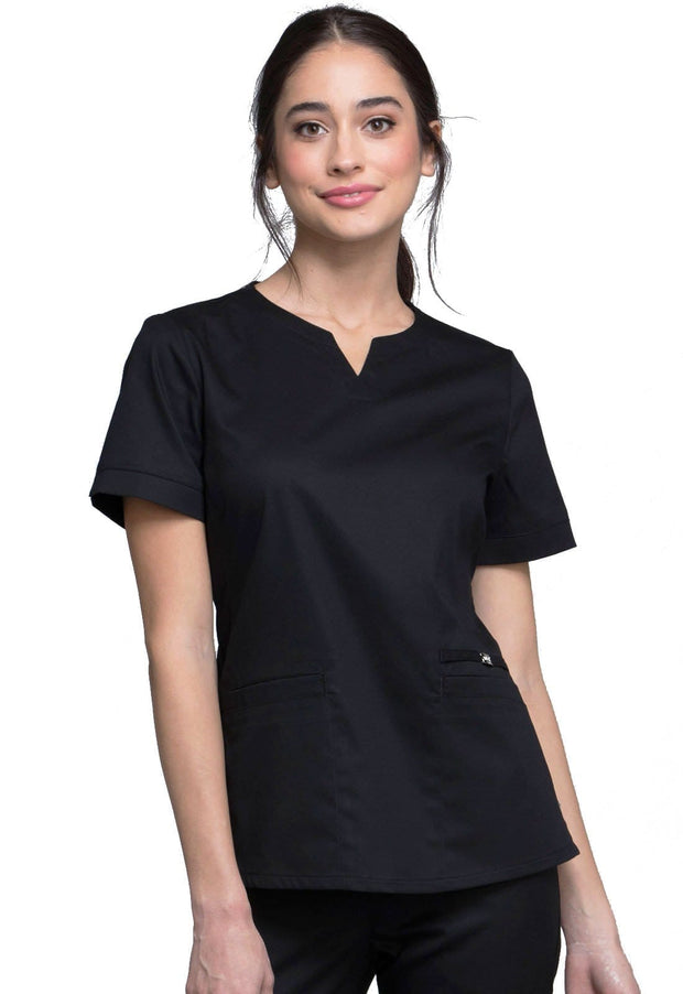 CK770 Notch V-Neck Top
