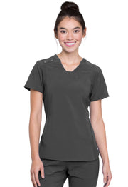Cherokee iflex Women's V-Neck Knit Panel Top - CK775