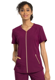 CK795<br> V-Neck Zip Front Top