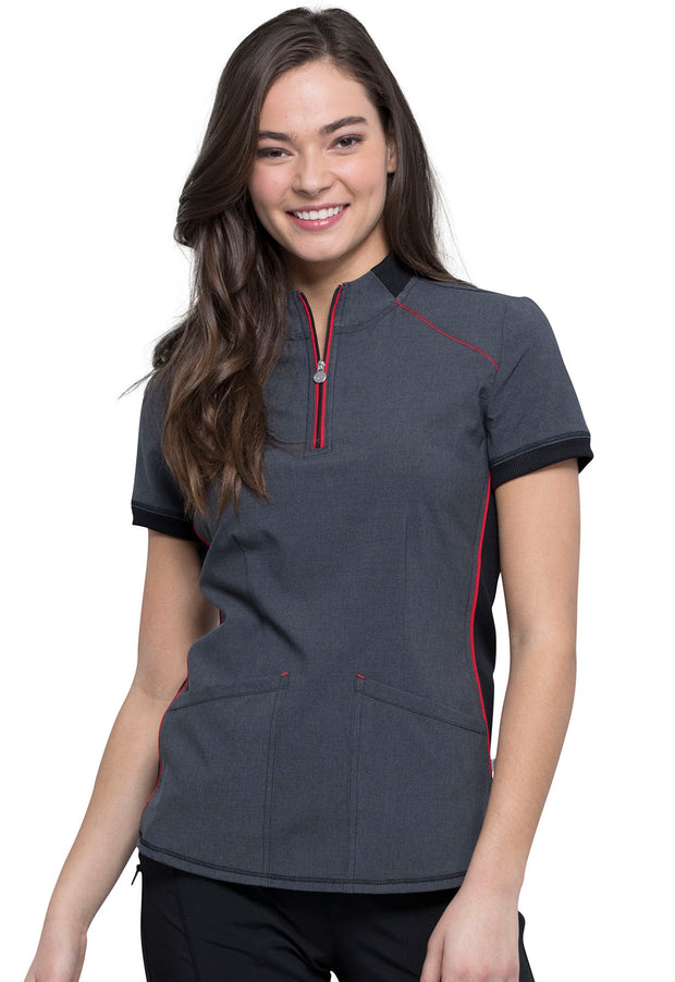 Cherokee Infinity Women's Zip-up Mock Neck Top - CK805A