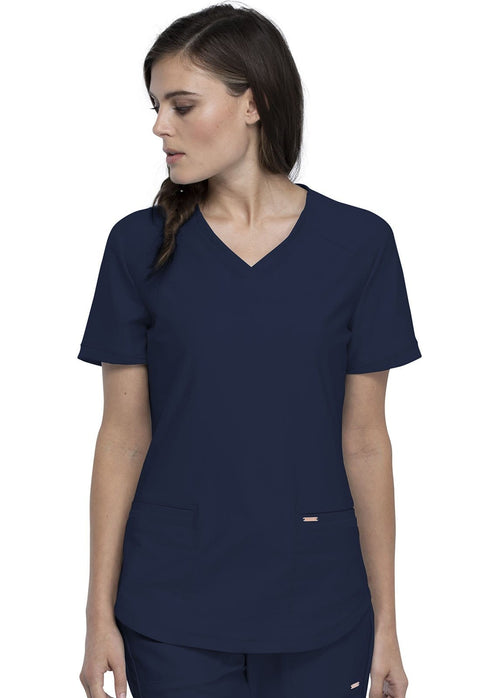 Cherokee Form by Cherokee Women's V-Neck Top - CK840 - ScrubHaven
