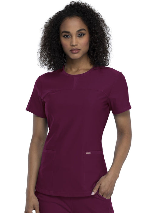 Cherokee Form by Cherokee Women's Round Neck Top - CK841 - ScrubHaven