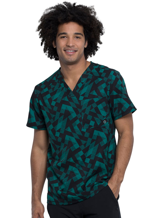 Cherokee Go Green Men's V-Neck Top - CK902