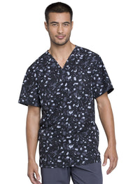 Cherokee Go Green Men's Men's V-Neck Top - CK902 - ScrubHaven