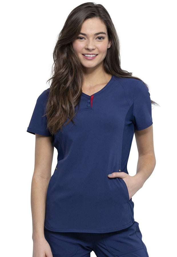 Cherokee Katie Duke Women's V-Neck Top - CKK815 - ScrubHaven