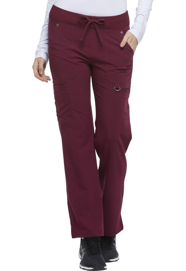 Dickies Xtreme Stretch Women's Mid Rise Rib Knit Waistband Pant - DK020P  Petite - ScrubHaven