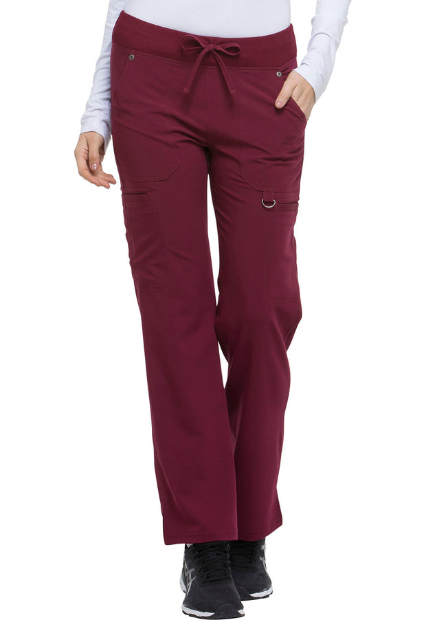 Dickies Xtreme Stretch Women's Mid Rise Rib Knit Waistband Pant - DK020P  Petite