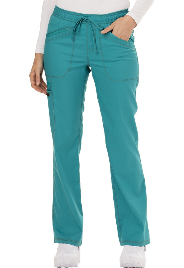 Dickies Essence Women's Mid Rise Straight Leg Drawstring Pant - DK106 - ScrubHaven