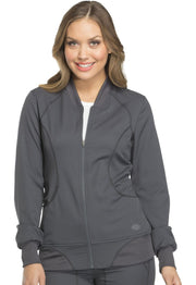 Dickies Dynamix Women's Zip Front Warm-up Jacket - DK330 - ScrubHaven
