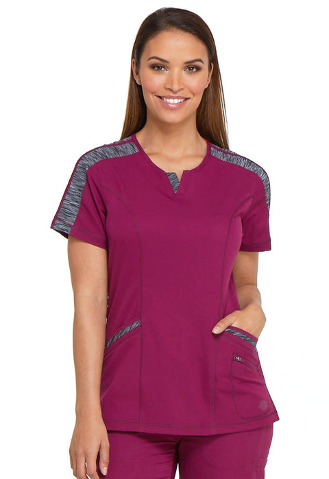 Dickies Dynamix Women's Shaped V-Neck Top - DK665 - ScrubHaven