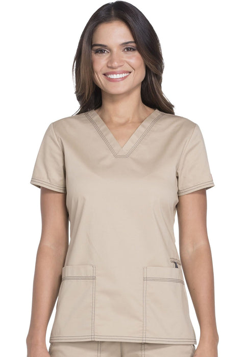 Dickies Gen Flex (Contrast) Women's V-Neck Top - DK800 - ScrubHaven
