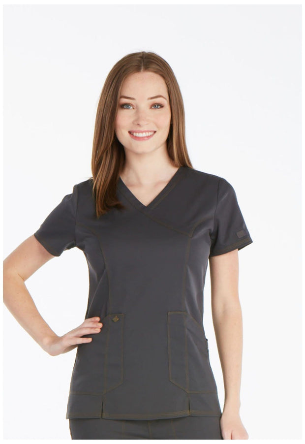 Dickies Essence Women's Mock Wrap Top - DK804 - ScrubHaven