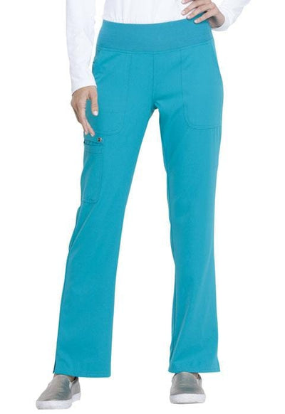 EL130<br> Mid Rise Straight Leg Pull-on Pant