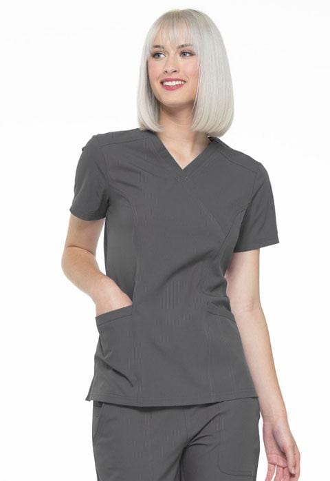 EL620 Mock Wrap Top - ScrubHaven