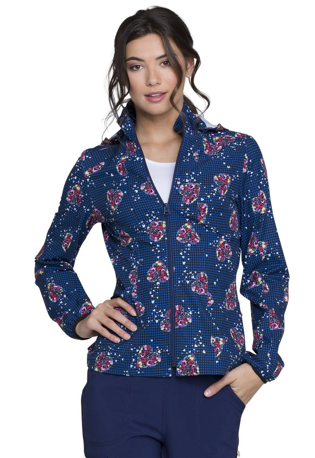 Heartsoul Pop Culture Women's Zip Front Jacket - HS301 - ScrubHaven