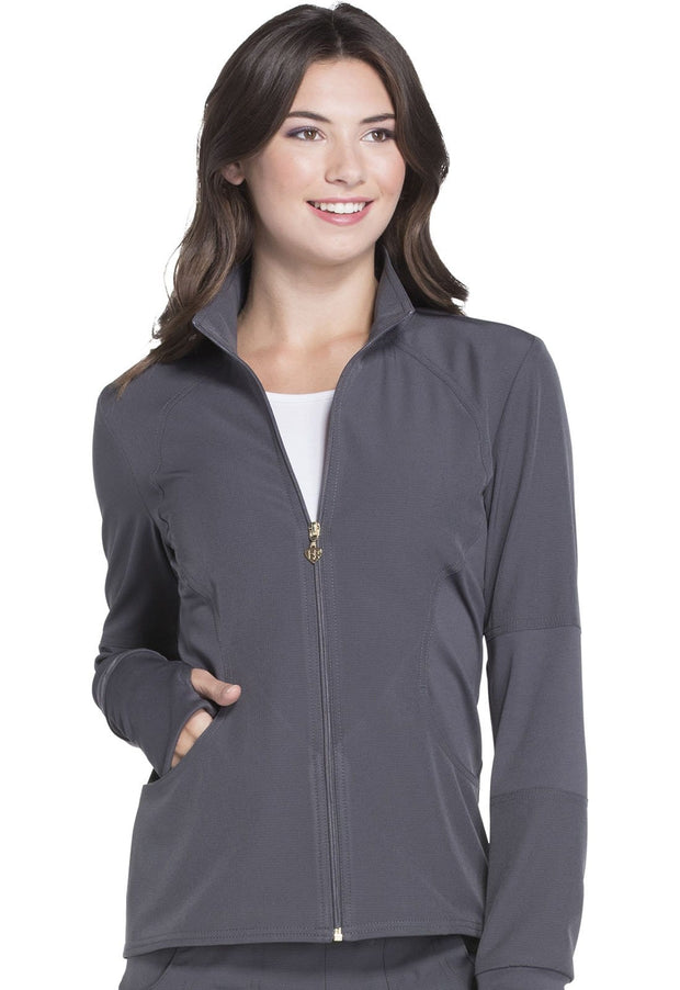 Heartsoul Break On Through Women's Zip Front Warm-up Jacket - HS315 - ScrubHaven