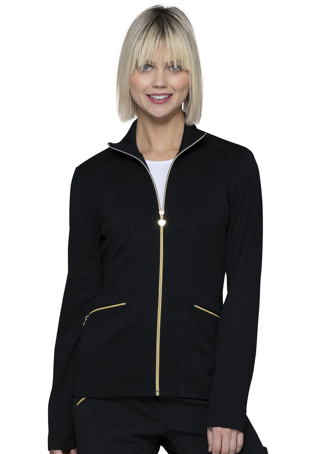Heartsoul Love Always Women's Zip Front Jacket - HS325 - ScrubHaven