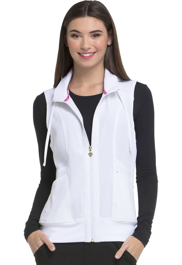 Heartsoul Break On Through Women's Zip Front Vest - HS500 - ScrubHaven