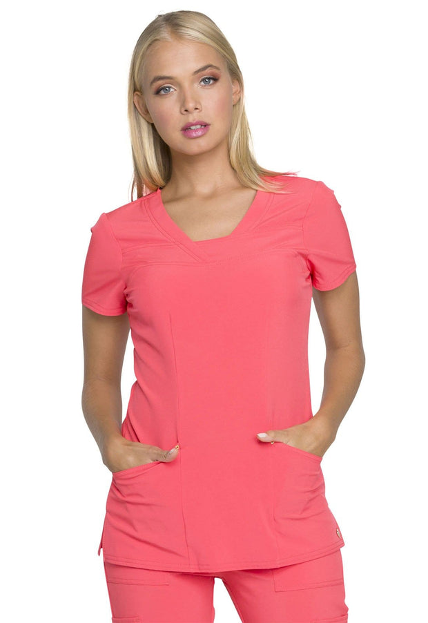 Heartsoul Love Always Women's V-Neck Top - HS665 - ScrubHaven