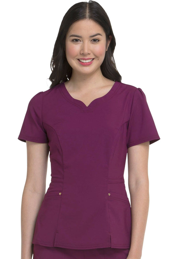 Heartsoul Love Always Women's V-Neck Top - HS670 - ScrubHaven