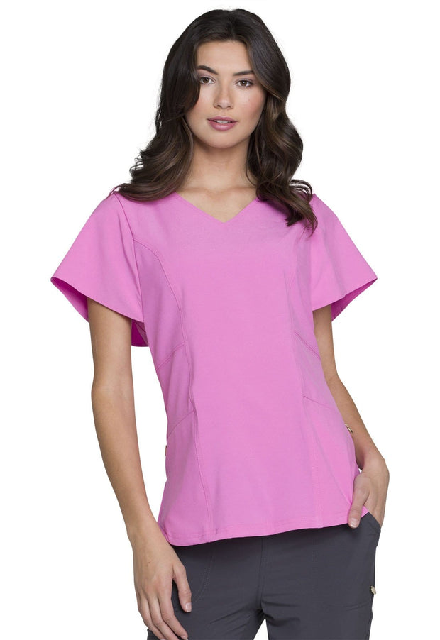 Heartsoul Love Always Women's V-Neck Top - HS735 - ScrubHaven
