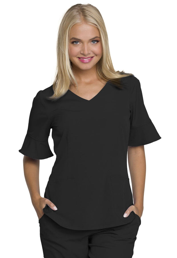 Heartsoul Break On Through Women's Mock Wrap Top - HS740 - ScrubHaven