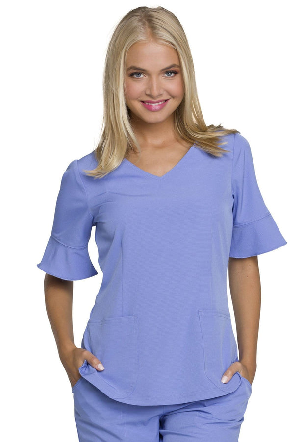 "HS740 ""Princess"" Mock Wrap Top"