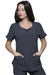 Heartsoul Break On Through Women's Round Neck Top - HS745 - ScrubHaven