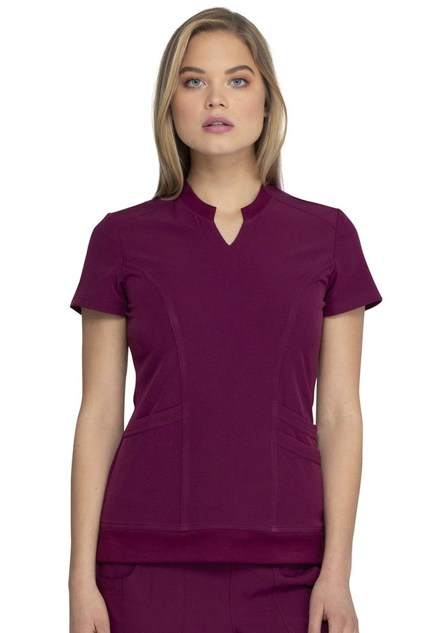 Heartsoul Break On Through Women's Split Neck Top - HS765 - ScrubHaven