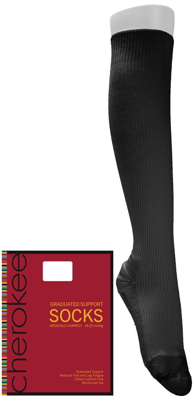 Cherokee Cherokee Footwear Women's 1pr of 18 mmHg Compression Sock - MEDISOCK - ScrubHaven