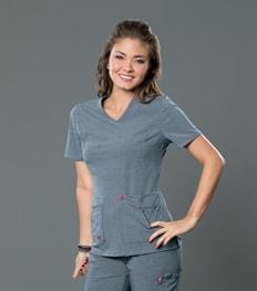 S101034 NOTORIOUS SMITTEN  LADIES TOP - ScrubHaven