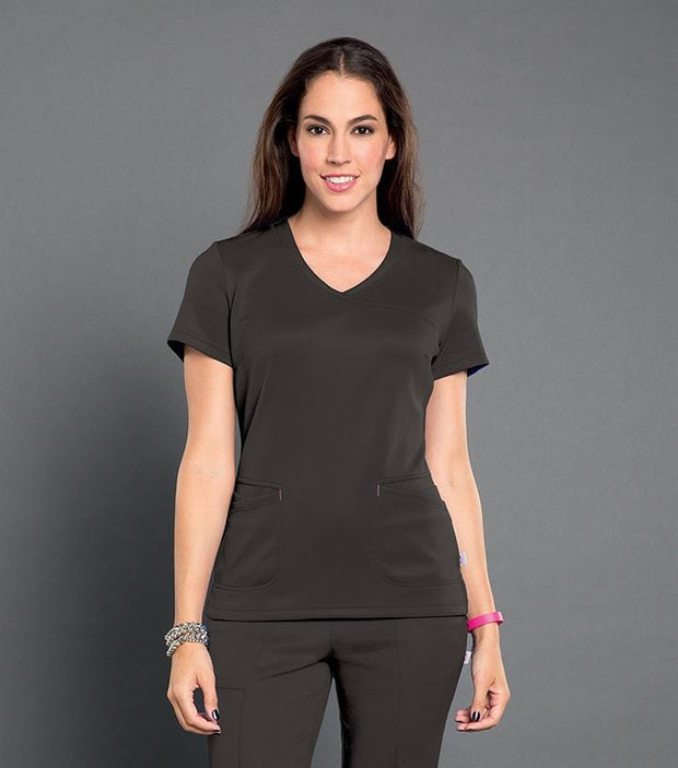 S103008<br> RIOT - WOMENS SMITTEN SURPLICE TOP