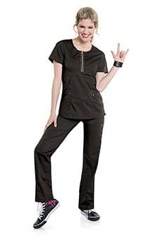 S107002 DIVA ZIP FRONT WOMENS TUNIC
