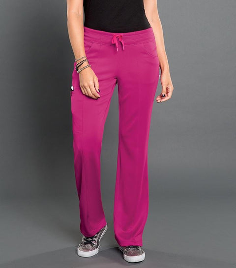 S201022 ELECTRIC -WOMENS SMITTEN PONTE PANEL FRONT PANT - ScrubHaven