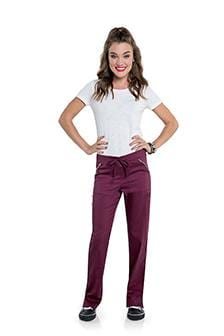 S207002 WOMENS STRAIGHT LEG PANT WITH ELASTIC